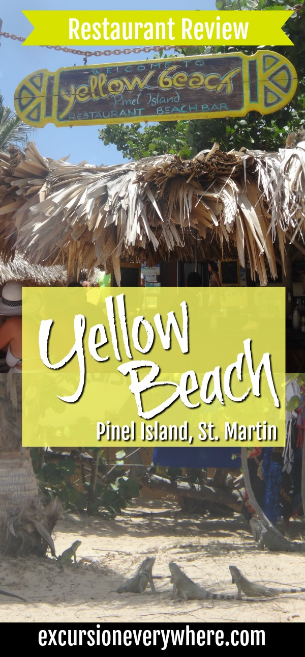 Excursion Everywhere - Travel Blog review about Yellow Beach on Pinel Island, St. Martin. Only accessible by boat, dIne out of tiki-huts and eat BBQ and ratatouille for a true Caribbean Experience.