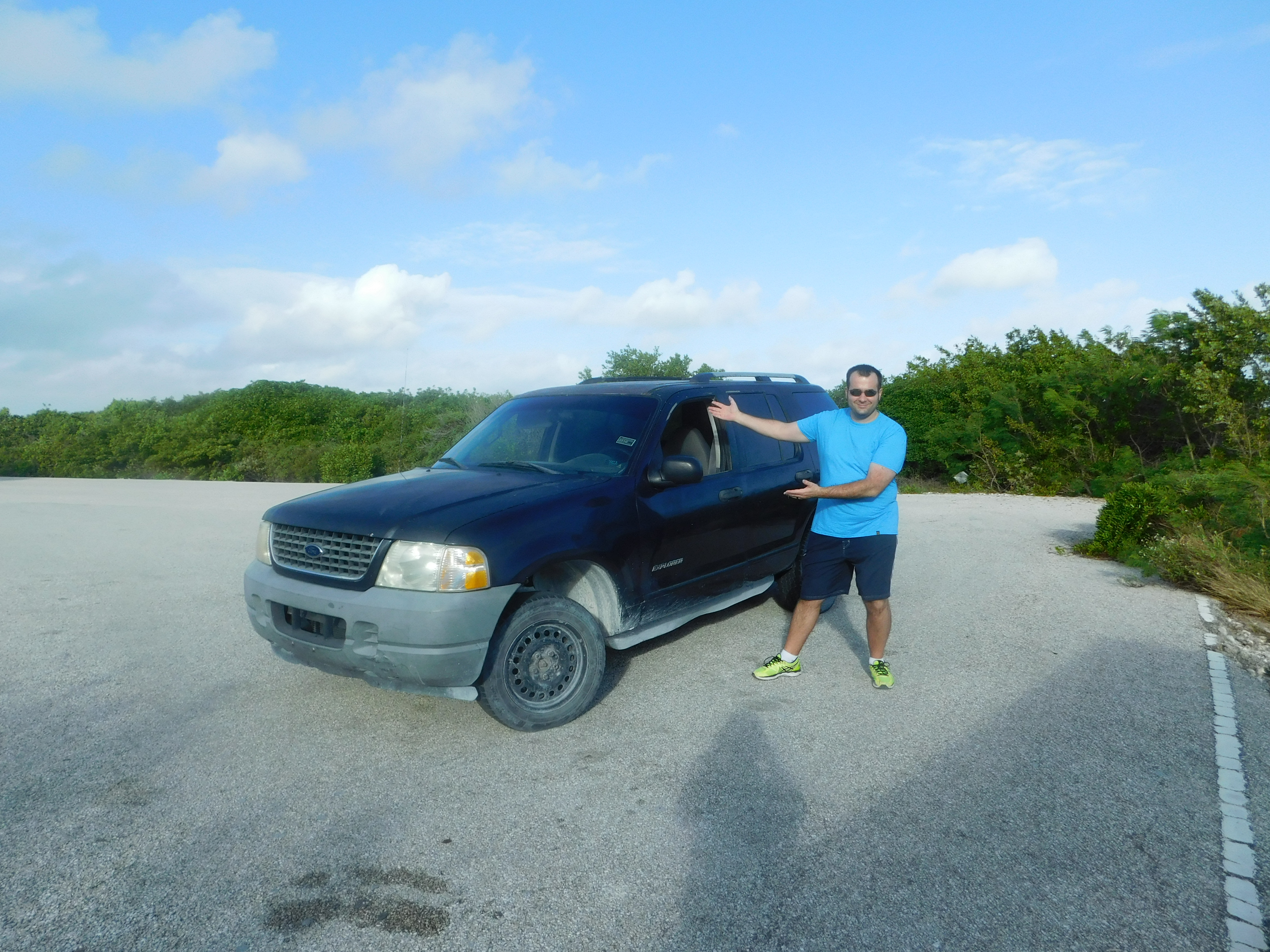 Our fancy rental car on our DIY adventure to North & Middle Caicos in the Turks and Caicos Islands.