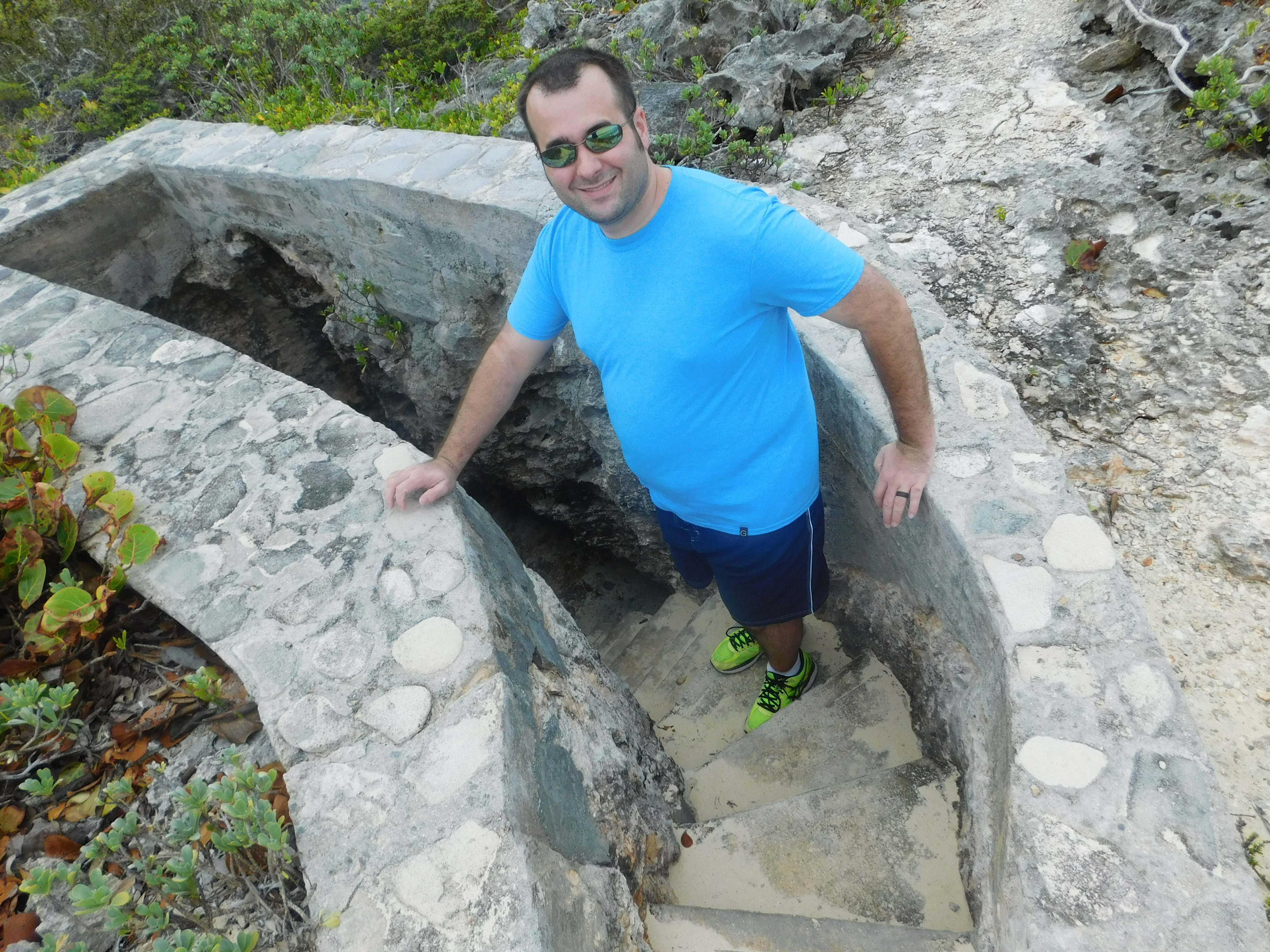 Stairs down to the beach in Mudjin, Middle Caicos - Turks & Caicos Island Guide - DIY Daytrip to North and Middle Caicos