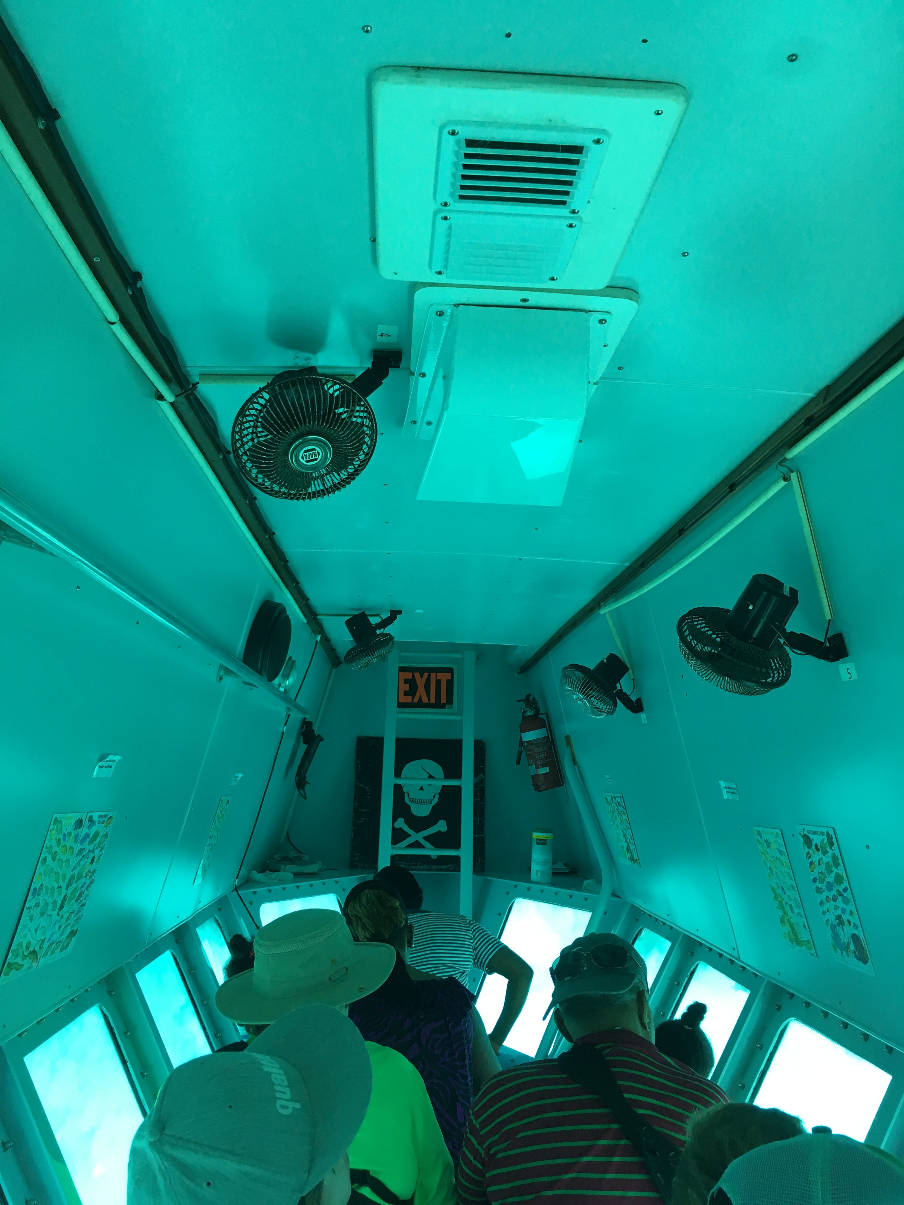 Inside the Semi-Submarine in Turks and Caicos - Island Excursion