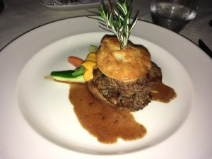 "Beef Tenderloin (""deconstructed beef wellington"")"