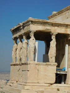 Erechtheion on the Acropolis in Athens, Greece
