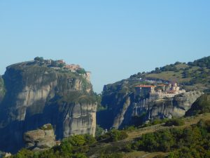 2 Meteora Monasteries as seen on our tour from Athens, Greece.