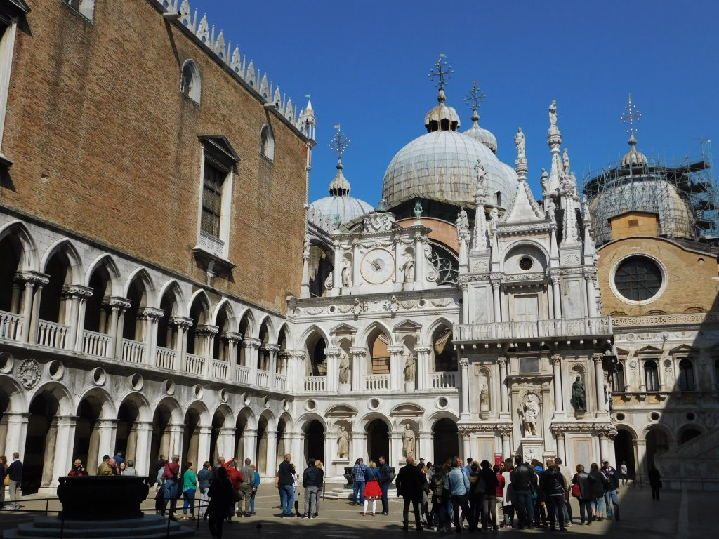 #9 The Doge's Palace and St. Mark's Basilica in the background.