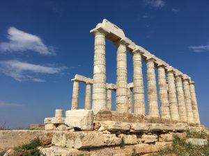 Temple of Poseidon as seen on our tour from Athens, Greece to Cape Sounion.