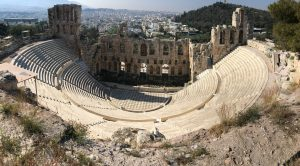 Theatre of Dionysus on the Acropolis in Athens, Greece