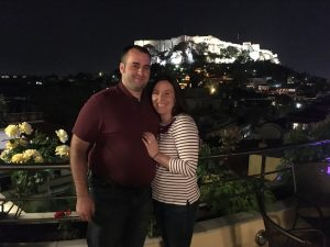 Picture from the Electra Roof Garden restaurant where we celebrated our honeymoon with Fine Dining!