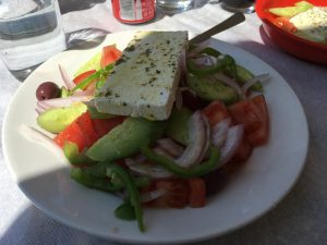 Greek Salad for lunch near the acropolis!
