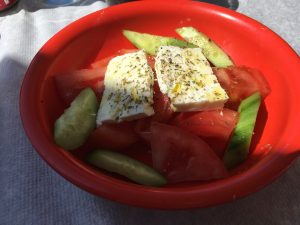 Side Greek Salad for lunch near the Acropolis!