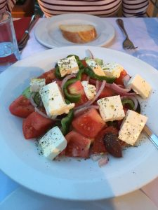 Greek Salad from Gyristroula our favorite lunch place in Athens, Greece!