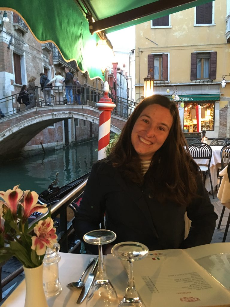 #8 Dinner canalside in Venice.