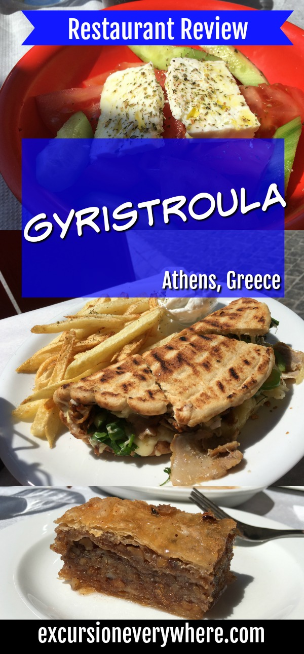 Gyristroula - Delicious lunch choice conveniently located near the Acropolis in Athens, Greece!