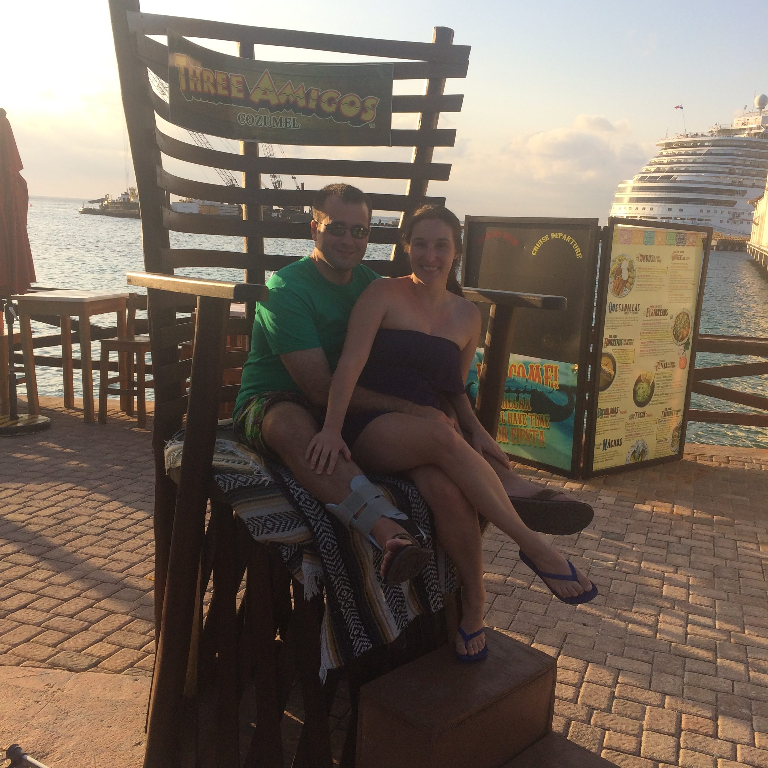 #5 Cozumel. Just posing in the Three Amigos chair.