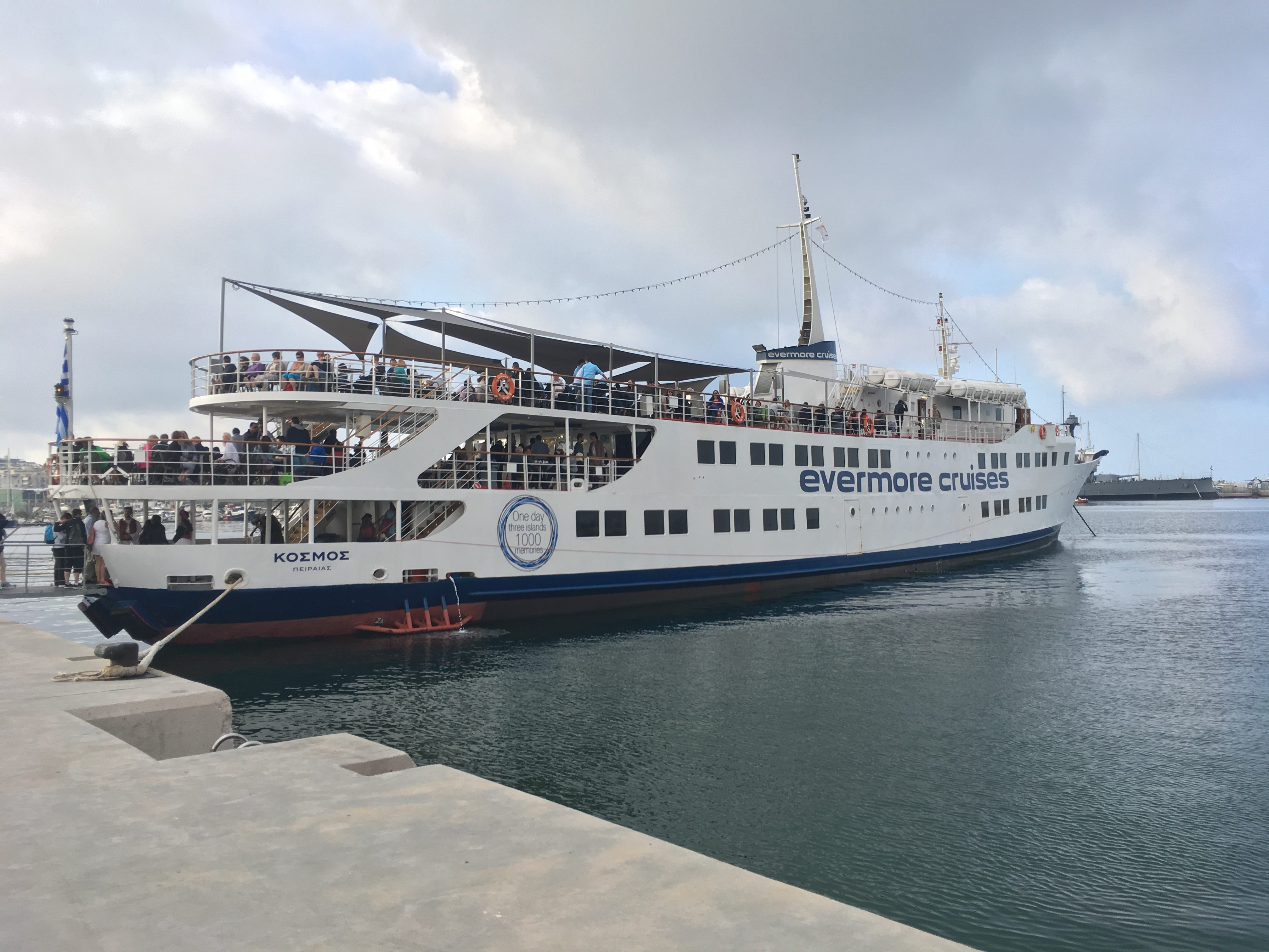 The ship we took to cruise 3 Greek Islands