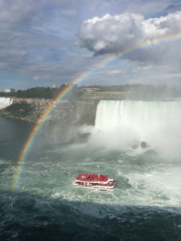 #1 The rainbow over Horseshoe Falls.