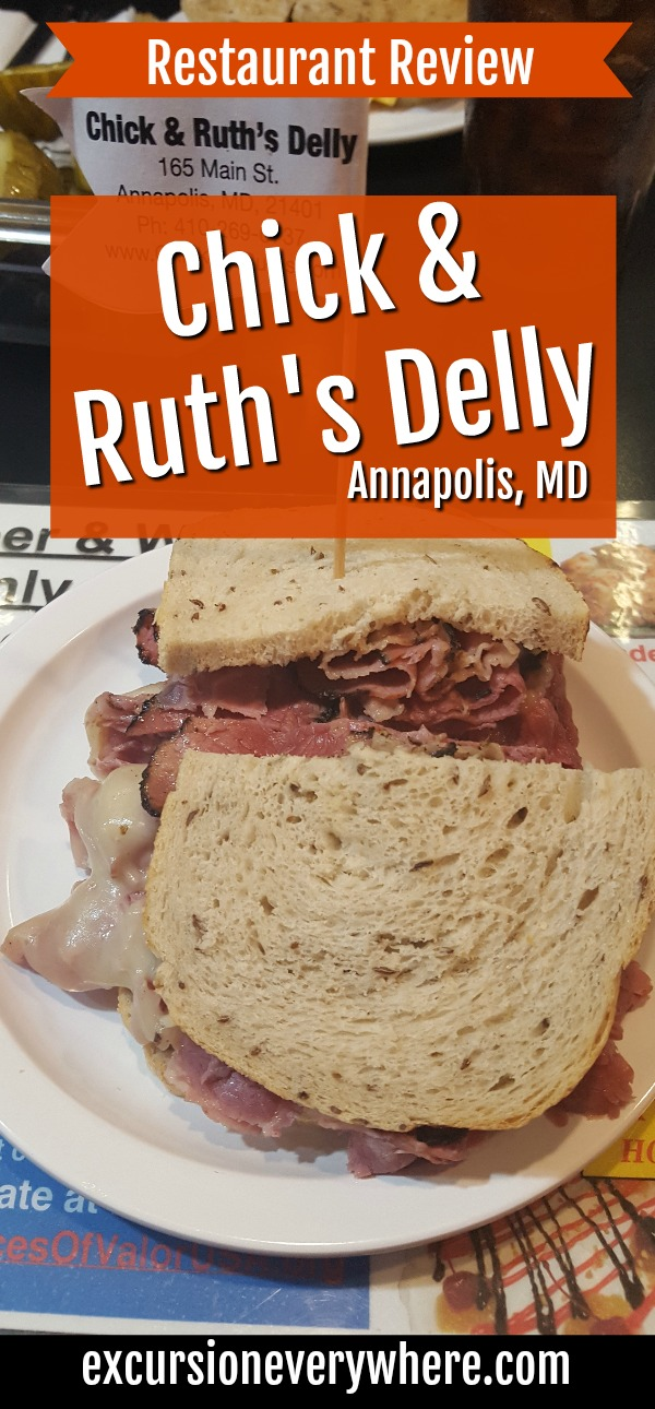 Excursion Everywhere - Travel blog about our experience at Chick & Ruth's Delly, a quirky, but yummy, sandwich restaurant in downtown Annapolis, MD.