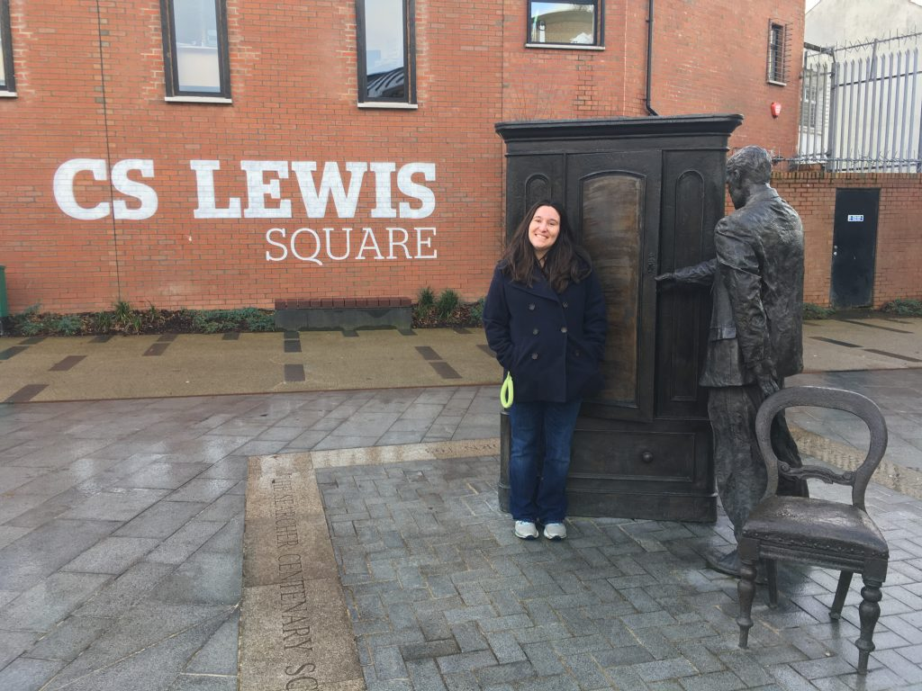 # 13 I'm a huge book lover and had to get a picture in CS Lewis Square. If only this wardrobe would really open!