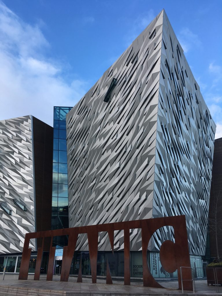 Stop at the Titanic Museum while roadtripping through Belfast in Northern Ireland.