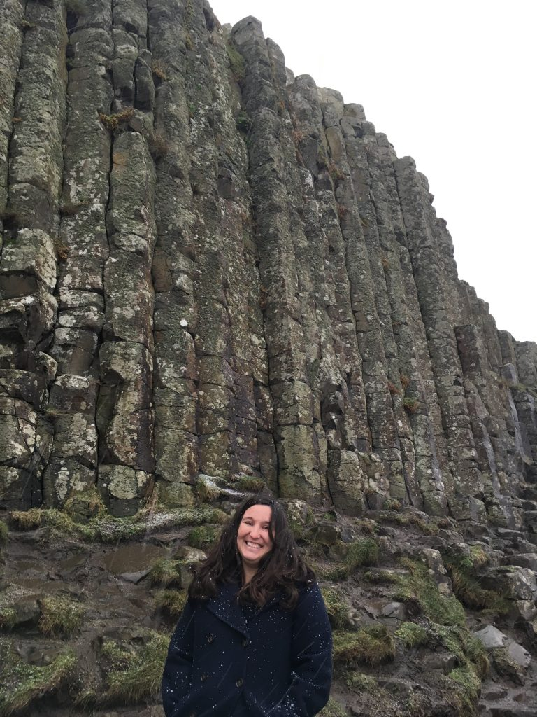 Giants Causeway, the highlight of our Northern Ireland roadtrip even though it was snowing!