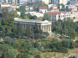 View from Aeropagus HIll in Athens, Greece