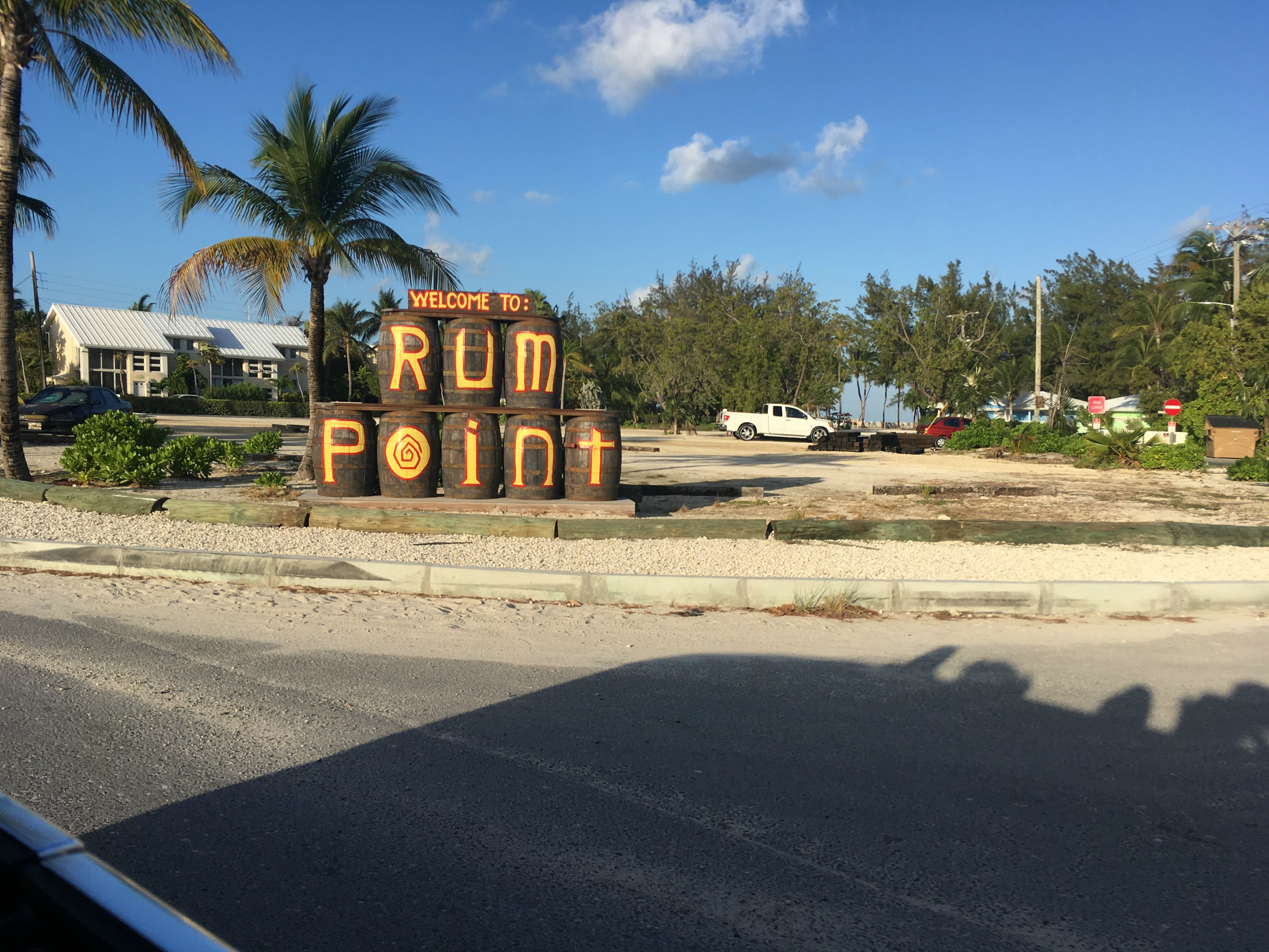 Rum Point in Grand Cayman (pic taken from car)