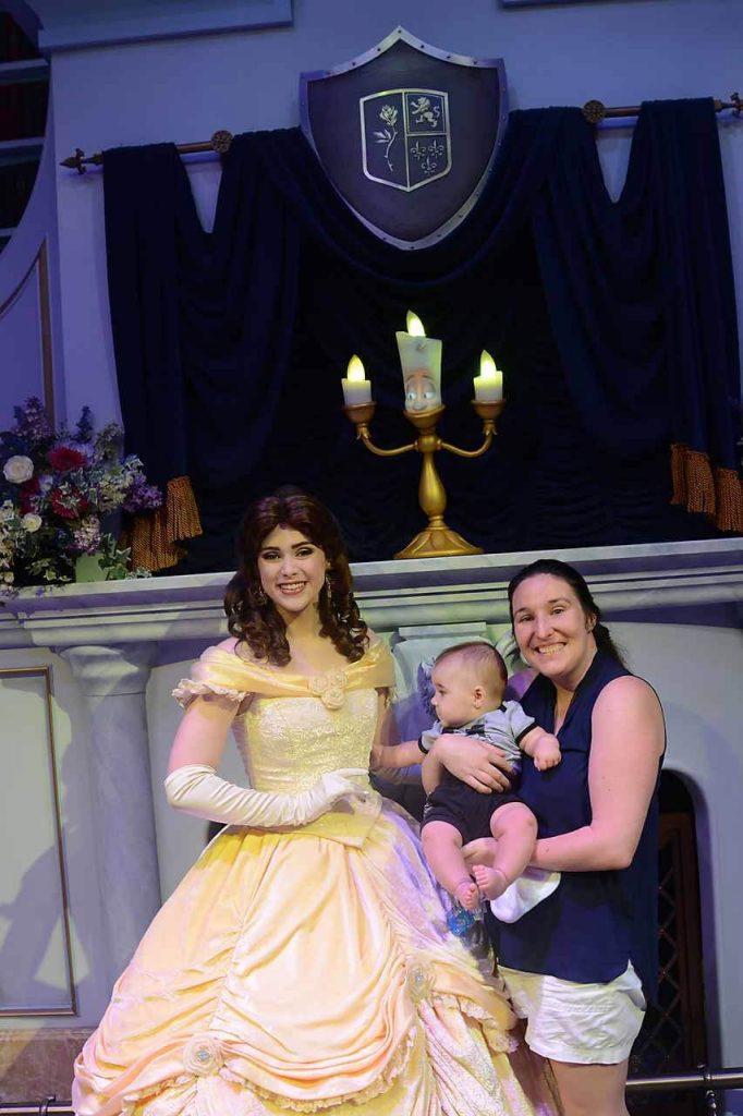 Meeting Princess Belle at Disney World's Magic Kingdom