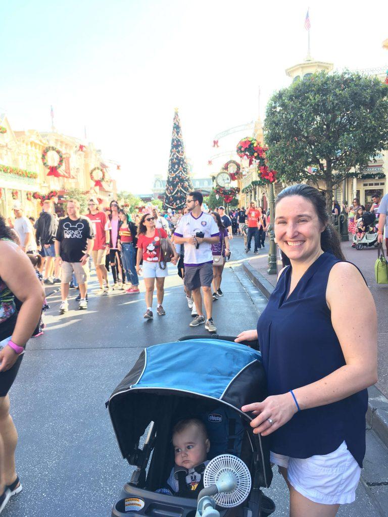 The Christmas Decorations on Main Street, Disney World's Magic Kingdom
