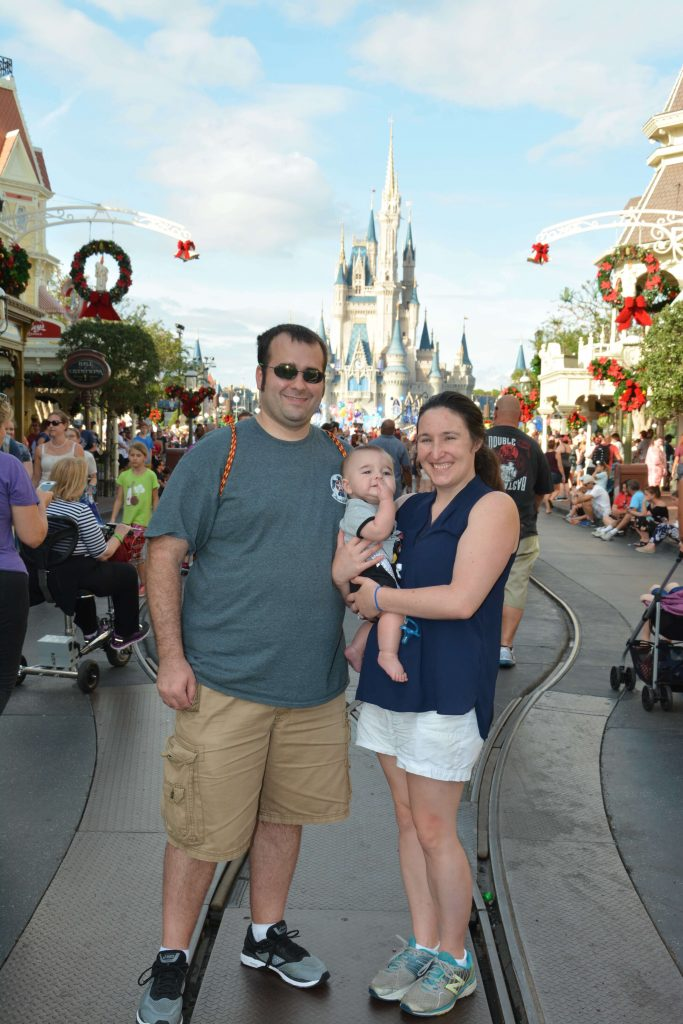 In front of the Castle at Disney World's Magic Kingdom