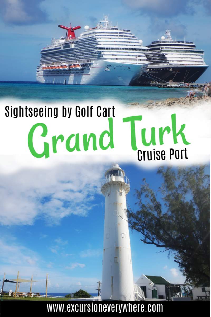 A travel blogger's guide to renting golf carts at the the Grand Turk Cruise Port. Includes a helpful DIY itinerary, a map, restaurants, and photo inspiration.